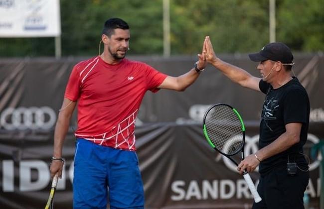 Andrei Pavel, Victor Hănescu, Marius Copil și Adrian Ungur - Meci demonstrativ de 5 stele la Concord Iași Open 2021.