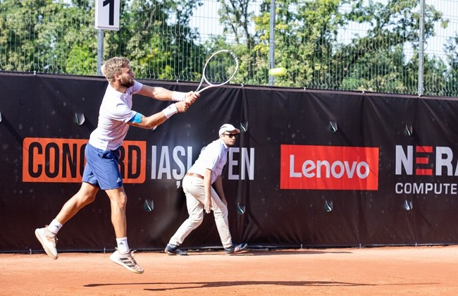 Cezar Creţu and Alexandru Tomescu defeated in the semifinals of the doubles tournament at Concord Iași Open.