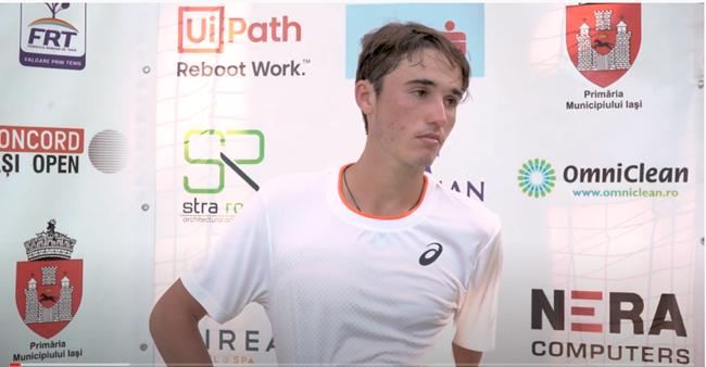 David-Nicholas Ionel, interviu după meciul său din turul secund la Concord Iași Open 2021