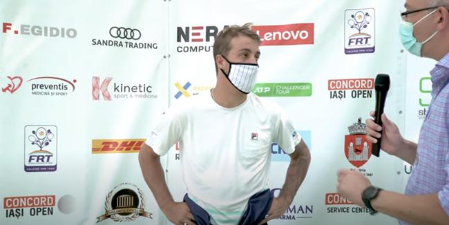 Felipe Meligeni, interviu după calificarea în semifinalele Concord Iasi Open