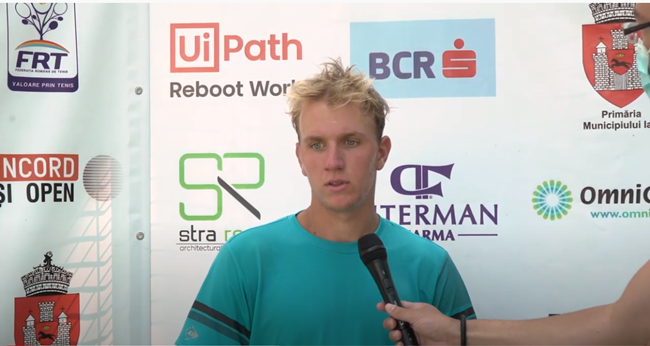 Filip Jianu, interview after his second round match at the Concord Iași Open