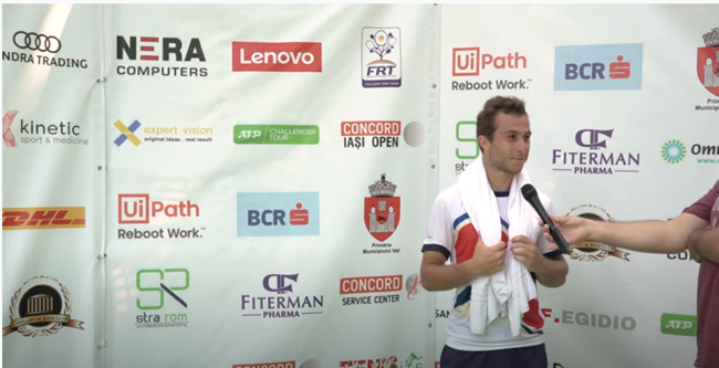 Frenchman Hugo Gaston, no. 1 seed, won in two sets, 7-6 (4), 6-2, against the Croatian Duje Ajdukovic