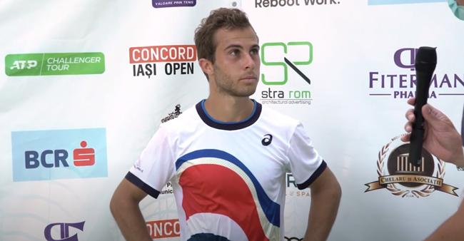 Hugo Gaston, favoritul  nr. 1 la Concord Iași Open 2021, interviu după calificarea în finală