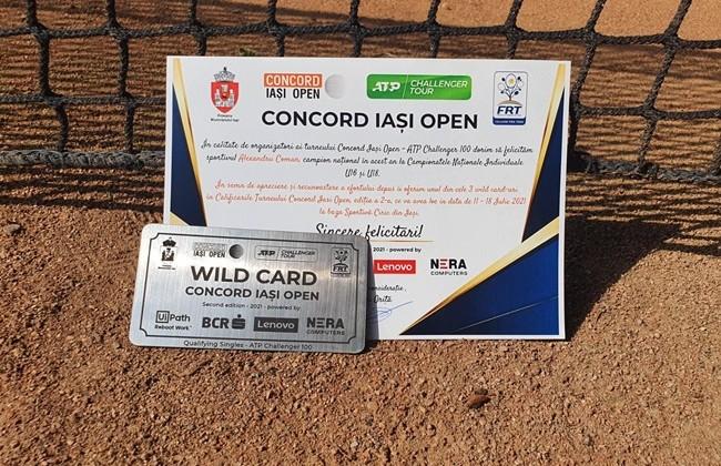 """Primul wild-card acordat la """"Concord Iași Open"""" 2021 a ajuns în posesia lui  Alexandru Coman"""