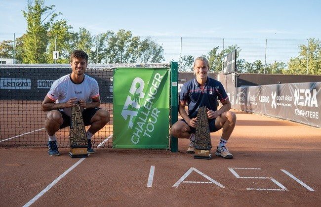 "Rafael Matos and Joao Menezes, the first champions of the ""Concord Iași Open"". The singles final is played on Sunday, from 12 PM, live on TVR 3 and TVR Iași"