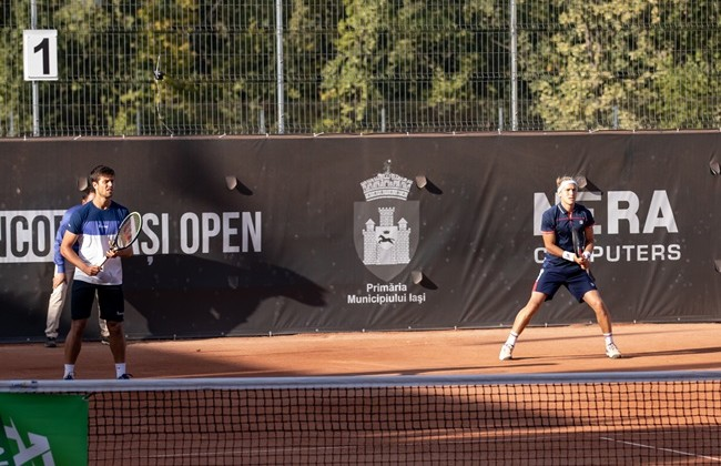 "Treat Huey / Nathaniel Lammons - Rafael Matos / Joao Menezes in the doubles final of ""Concord Iași Open"" 2020, live on TVR 3 and TVR Iași, on Saturday, at 4 PM."