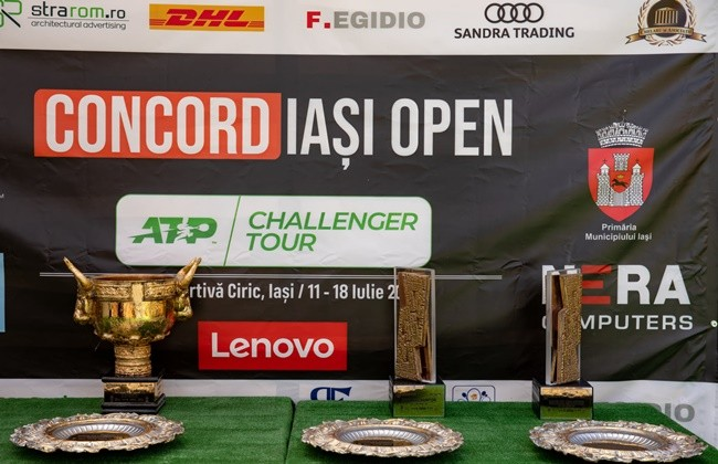 The trophies that will reward the champions and finalists of the 2021 edition of the Concord Iași Open are ready