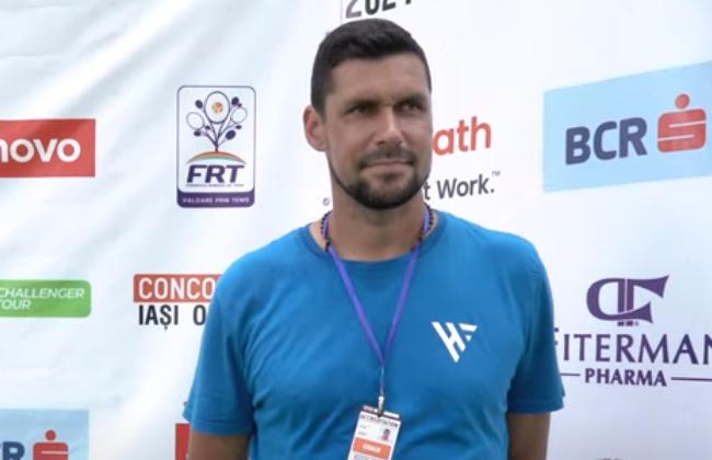 Victor Hănescu, fostul mare jucător de tenis al României, se află în aceste zile la Concord Iași Open 2021 din postura de antrenor al jucătorului Cezar Crețu.